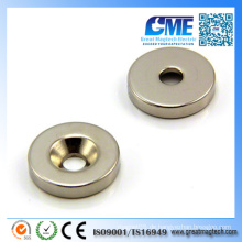 N42 D25X5mmx6 Starker Ring Senkung Neodym Magnet