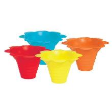 Sno-Cone Flower Drip Tray Cups, Multicolor Sundae Cup Ice Cream Cup