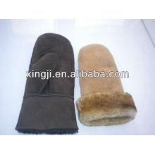 top quality sheepskin figerless winter customized designwomen's lamb fur glove