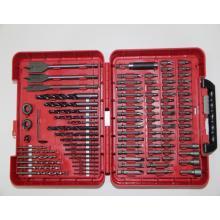 100 pc Accessory Set Drill Bit Driver Screw Tools Kit Case