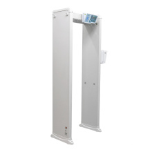Two-in-One Walk Through Metal Detector Human Body Temperature Measuring Door with Infrared Thermometer