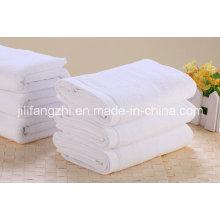 Venta caliente Color blanco 100% algodón toalla del Hotel