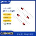 Contas de lâmpada LED Contas de lâmpada de alta potência 3mm-vermelho-vermelho