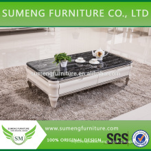 luxurious Italian natural stone marble and granite top coffee table