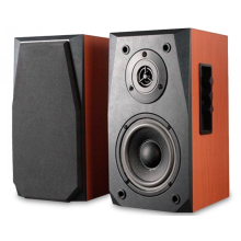Fashionable hot selling 2.0 Bluetooth wooden speaker with super base