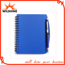 Classic A5 Size PP Cover Notebooks with Pen for Company Meeting (PPN221A)