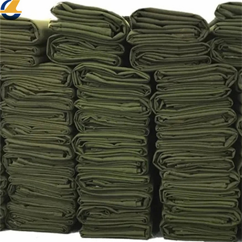 Stock of cotton canvas tarps