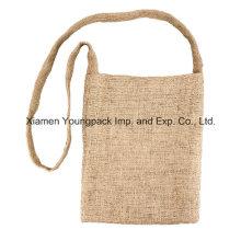 Promotional Natural Jute Burlap Shoulder Messenger Bag