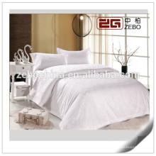 100% Cotton Wholesale Hotel Bed Linen Jacquard White Bedding Sets