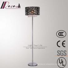 Chinesische Lieferant Metall Hohl Stehlampe mit Kristall Hängen