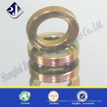 De zinc de qualité jaune garniture de qualité