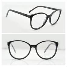 Acetato Gafas Frames Marcos Redondos para Unisex (CN3213 Negro)