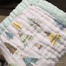 Envoltório do bebê da impressão da musselina do bambu, cobertor do swaddle do bebê