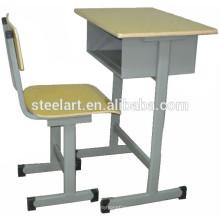 Holz Top Metallrahmen Design der Studie Tisch und Stuhl-Sets
