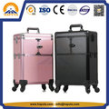 Aluminum Trolley Makeup Storage Case with Mirror