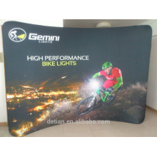 10ft Shaped tension fabric Trade Show Backdrop fabricated banner stands fabric display