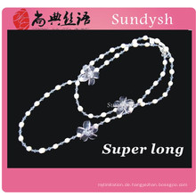 Antike Kette Multi Strang Semi Edelstein großen faux klobigen Perlen künstliche Perle neue Design lange Halskette Schmuck Mode