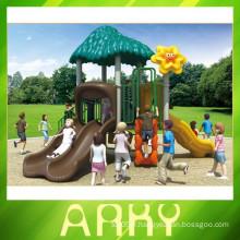 2015 New Design Simple Kids Plastic Sliding Outdoor Playground