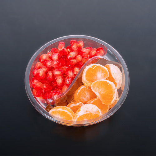 PET Round Clear Transparent Kunststoff Obst Food Box
