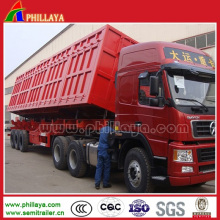 40-50ton Dump Truck Trailer Side Tipper with Hydraulic Cylinders