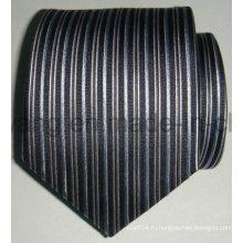 Мода мужская шелковая тканая жаккардовая полосатая галстук