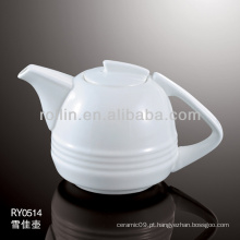 Forno de porcelana branca saudável durável potes de chá seguro com tampa
