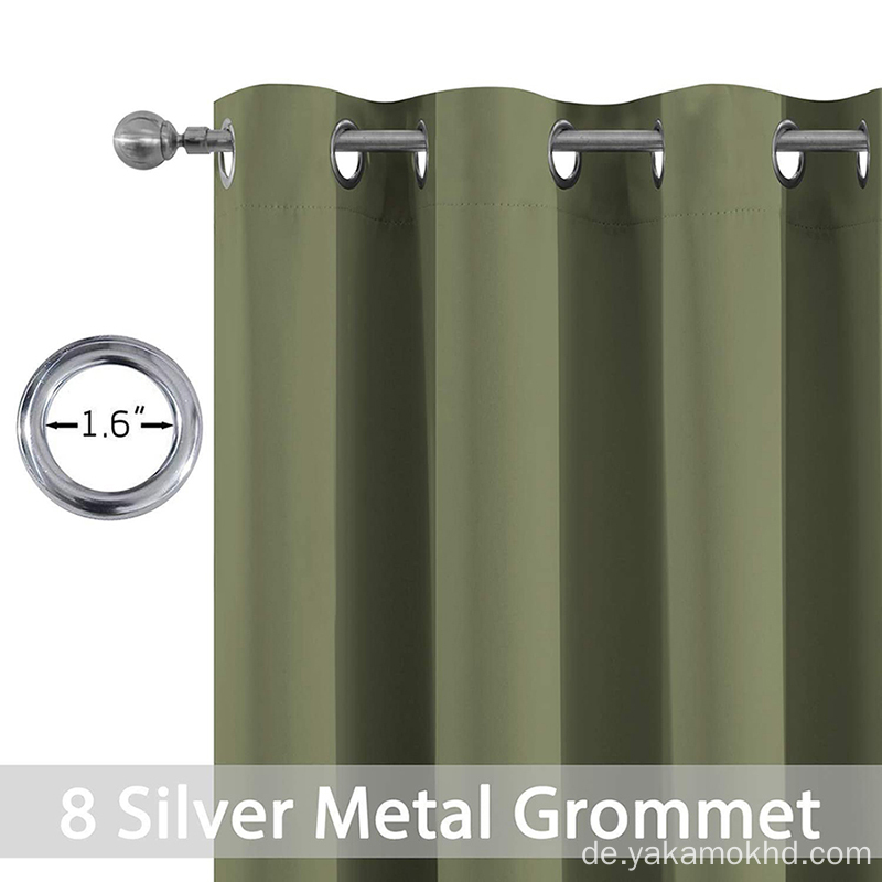 Sage Blackout Curtains 63 Zoll lang