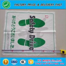 Tapis en plastique jetable blanc de pied de PE pour le nettoyage de voiture