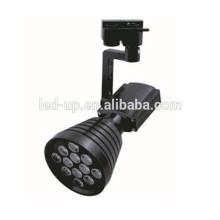 Spot d'éclairage résidentiel de 100 mm avec éclairage de voie 12w avec boîtier noir