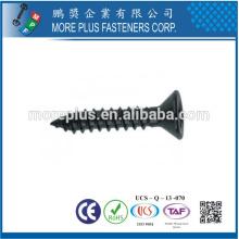 Made in Taiwan Screw Fabricant M1.0-6.0 Acier inoxydable Black Coating Flat Head Self Tapping Screw
