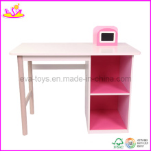 Wooden Study Desk, with Bookend and Storage Shelf (WO8G087)