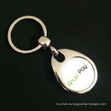 Personalizado de alta calidad Zinc aleación moneda carro llavero con imán enterrado para negocio anuncio promoción