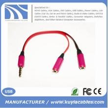 Качественный 3,5 мм аудио кабель Y Разветвитель 2 женского кабеля на 1 аудиокабель