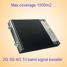 Interior 2g 3G 4G 1800 2100 2600MHz Lte triple banda móvil de señal de refuerzo / repetidor