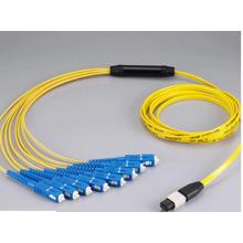 MPO-Sc 12core Mini Round 3.0mm Fibra óptica Patchcord