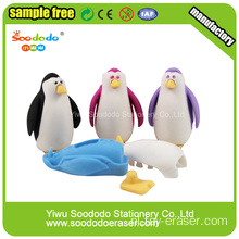 Red Penguin Cute Eraser.Animal puzzel promotie gum