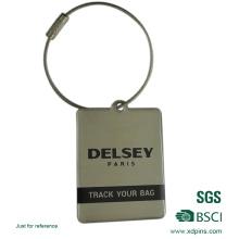 Kundenspezifischer Entwurfs-rostfreier Eisen-Druckgepäckanhänger für Gepäck