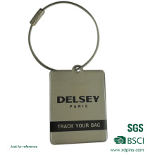 Custom Design Stainless Iron Printing Luggage Tag for Luggage