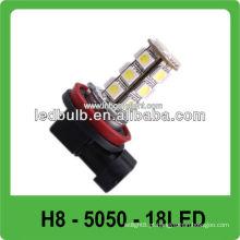 CE & ROHS 18 pcs 5050 SMD H8 levou luzes cabeça auto