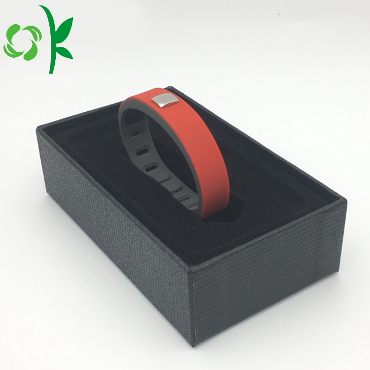 Red Silicone Layer Braceelet