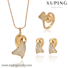 63067 - Bijoux de mariée en alliage de cuivre de mode de bijoux de Xuping ensemble avec l'or 18K plaqué