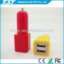 Cubo y forma de cilindro Conector hembra USB doble
