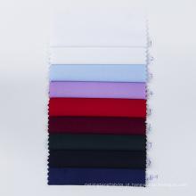 Tecido de microfibra sólido Tecido de camisa lisa anti-rugas