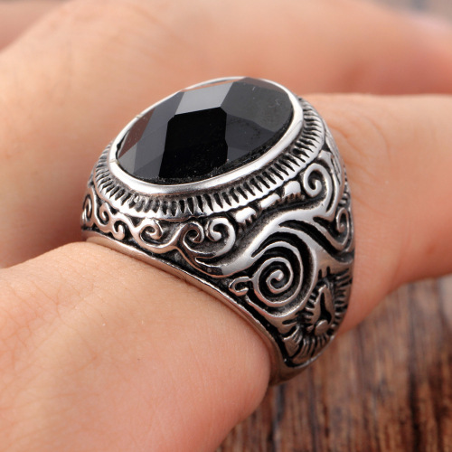 retro Pattern ring
