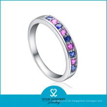Einfache Art Bunte CZ Silber Eternity Ring (SH-R0152)