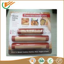 2015 Taixing Heißer Verkauf Nonstick niedrigster Preis Hitzebeständige Fiberglas Antihaft-Silikon-Backmatte für Ofen