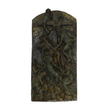 Relievo Estatua de latón escultura alivio de la Biblia Escultura de bronce Tpy-843