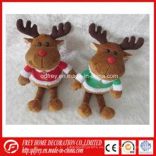 Juguete de ciervo de tamaño pequeño y suave para regalo de Navidad