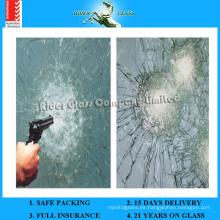 6.38-43.2mm AS / NZS2208: 1996 Impermeabilizan el vidrio de la prueba de la bala