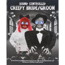 Controle de voz assustador noiva e noivo Helloween Party Toy